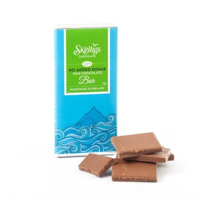 No added sugar milk chocolate bar